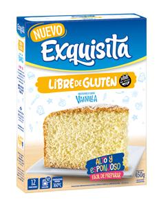 Bizcochuelo Vainilla Libre de Gluten